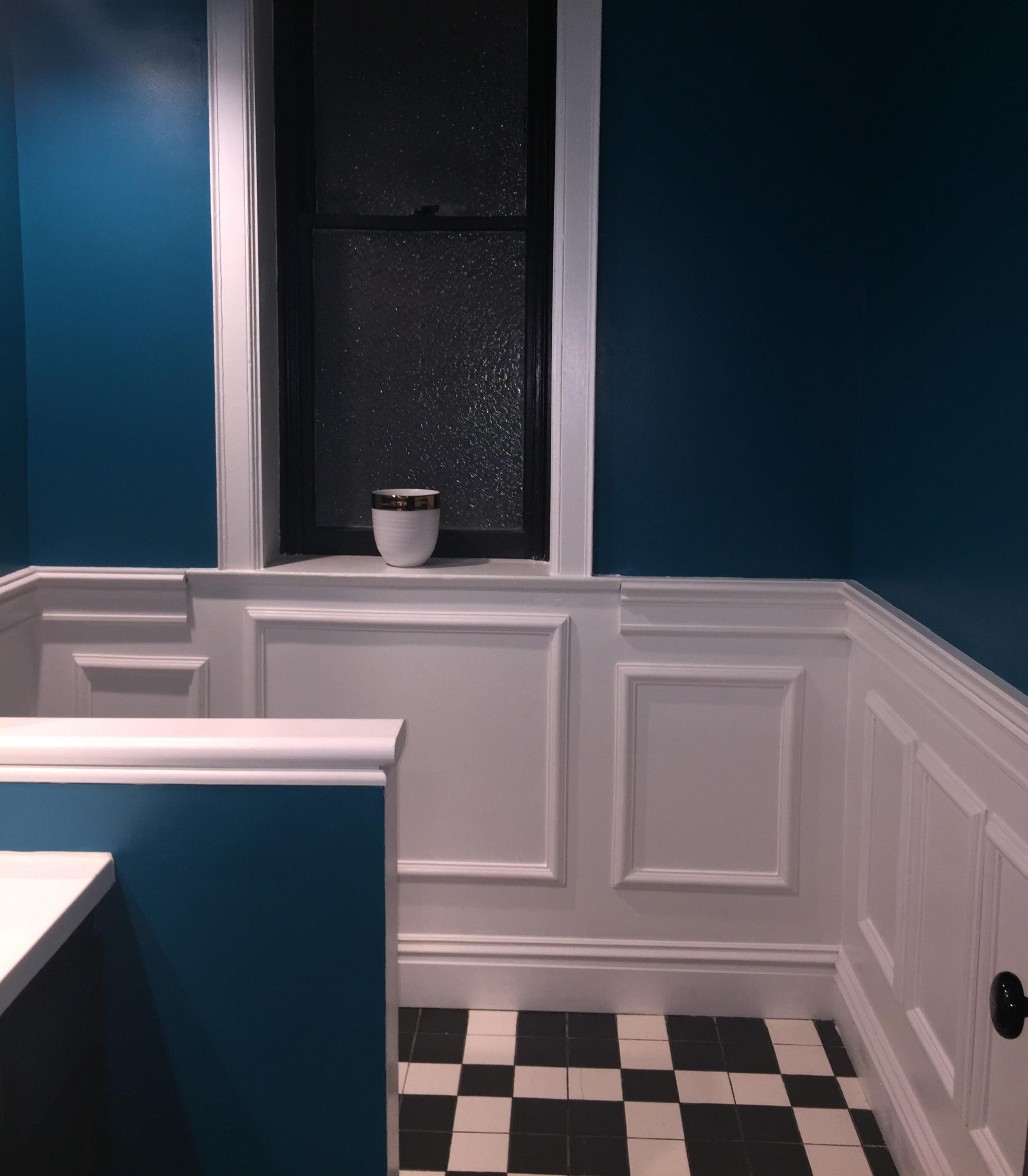 Ekena Millwork Ashford Wall Panel In Bathroom Remodel