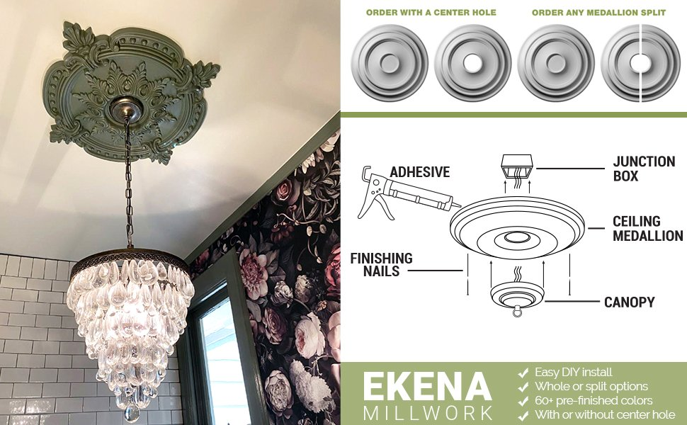 Ceiling Medallion Finishes and Options