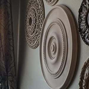 Ceiling Medallion as Wall Decor