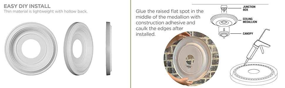 Ceiling Medallion Easy Installation