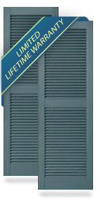 Mid-America Standard Size Louver Shutters