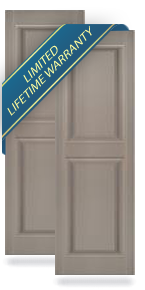 Mid-America Exterior Vinyl Raised Panel Shutters