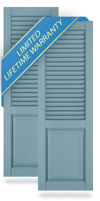 Combination 60-40 Louver Top/Panel Bottom Shutters