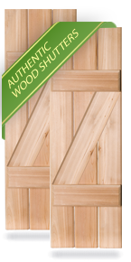 Exterior Wood Z-Board Board-n-Batten Shutters