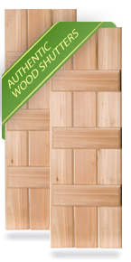 Exterior Wood Three Batten Board-n-Batten Shutters