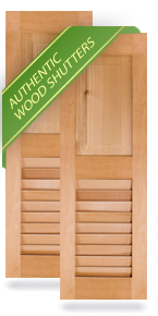 Exterior Wood Combination Panel/Louver Shutters