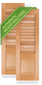 Exterior Wood Combination 60-40 Louver/Panel Shutters