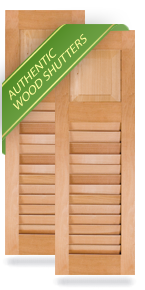 Exterior Wood Combination 60-40 Panel/Louver Shutters
