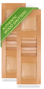 Exterior Wood Combination Panel/Louver/Panel Shutters