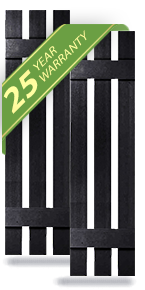 "12"" Wide Builders Choice Vinyl Three Board Spaced Window Shutters, w/Shutter Spikes (Per Pair)"