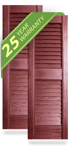 Builders Choice Exterior Vinyl Louver Shutters