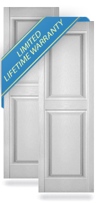 Lifetime Exterior Vinyl Raised Panel Shutters