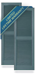 Mid-America Custom Size Louver Shutters