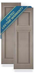 Mid-America Custom Size Raised Panel Shutters